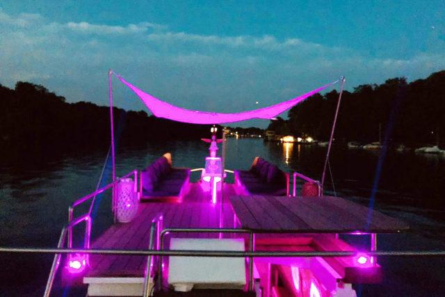 Abendstimmung auf dem Schiff