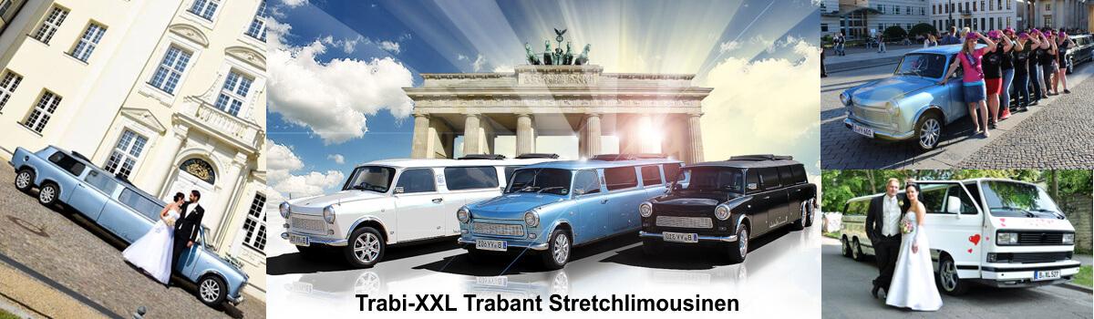 Hochzeitslimousine Berlin, Trabi-XXL ein Trabant Stretchlimousine