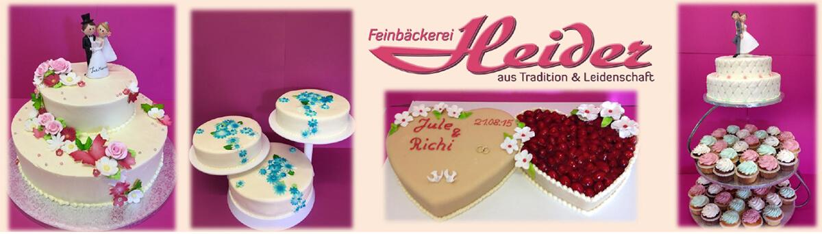 Hochzeitstorten Berlin von der Bäckerei Heider